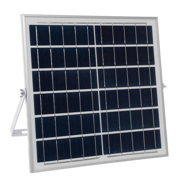 71559 Αυτόνομος Ηλιακός Προβολέας LED SMD 100W 12000lm με Ενσωματωμένη Μπαταρία 10000mAh - Φωτοβολταϊκό Πάνελ με Αισθητήρα Ημέρας-Νύχτας και Ασύρματο Χειριστήριο RF 2.4Ghz Αδιάβροχος IP66 Ψυχρό Λευκό 6000K - 7