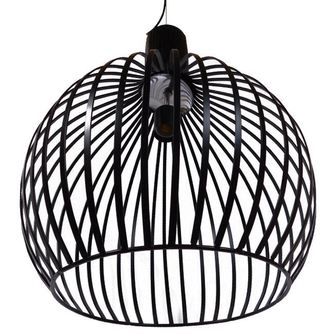Μοντέρνο Κρεμαστό Φωτιστικό Οροφής Μονόφωτο Μαύρο Μεταλλικό Καμπάνα Φ38  GOBLET DARK 01266 - 4