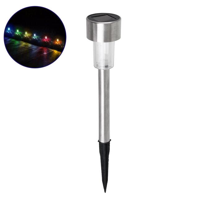 71522 Αυτόνομο Ηλιακό Φωτιστικό LED SMD 1W 90lm με Ενσωματωμένη Μπαταρία 600mAh - Φωτοβολταϊκό Πάνελ με Αισθητήρα Ημέρας-Νύχτας Αδιάβροχο IP65 Φανάρι Κήπου Στρογγυλό Πολύχρωμο RGB - 2