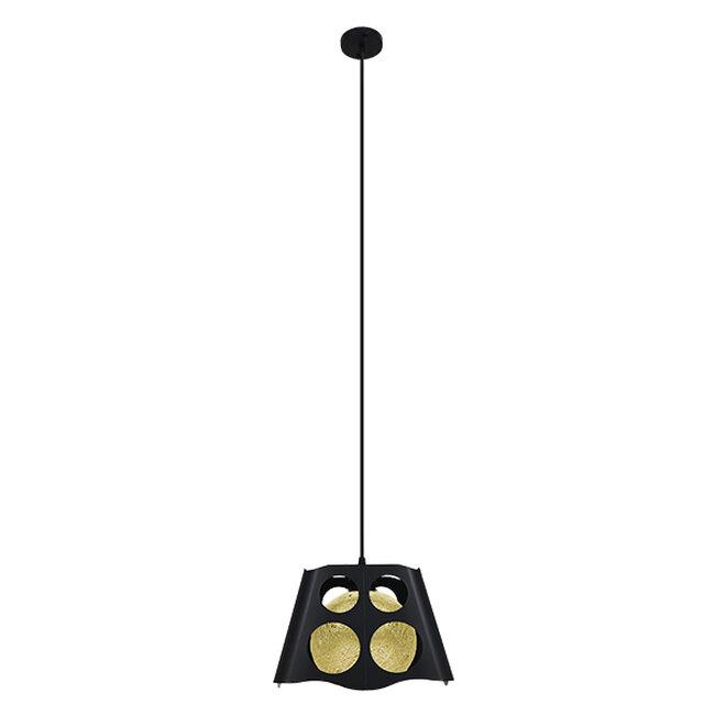 Μοντέρνο Industrial Κρεμαστό Φωτιστικό Οροφής Μονόφωτο Μαύρο με Εκρού Μεταλλικό Πλέγμα 28x28x22cm  CARTER 28x28x22cm 00962 - 3