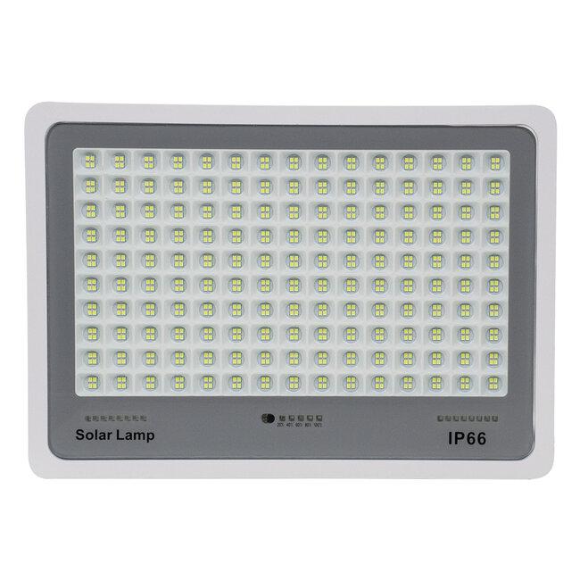 71562 Αυτόνομος Ηλιακός Προβολέας LED SMD 300W 36000lm με Ενσωματωμένη Μπαταρία 25500mAh - Φωτοβολταϊκό Πάνελ με Αισθητήρα Ημέρας-Νύχτας και Ασύρματο Χειριστήριο RF 2.4Ghz Αδιάβροχος IP66 Ψυχρό Λευκό 6000K - 5