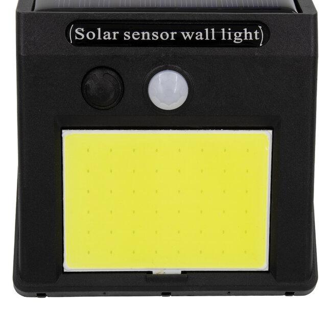 71496 Αυτόνομο Ηλιακό Φωτιστικό LED COB 12W 1200lm με Ενσωματωμένη Μπαταρία 1200mAh - Φωτοβολταϊκό Πάνελ με Αισθητήρα Ημέρας-Νύχτας και PIR Αισθητήρα Κίνησης IP65 Ψυχρό Λευκό 6000K - 7