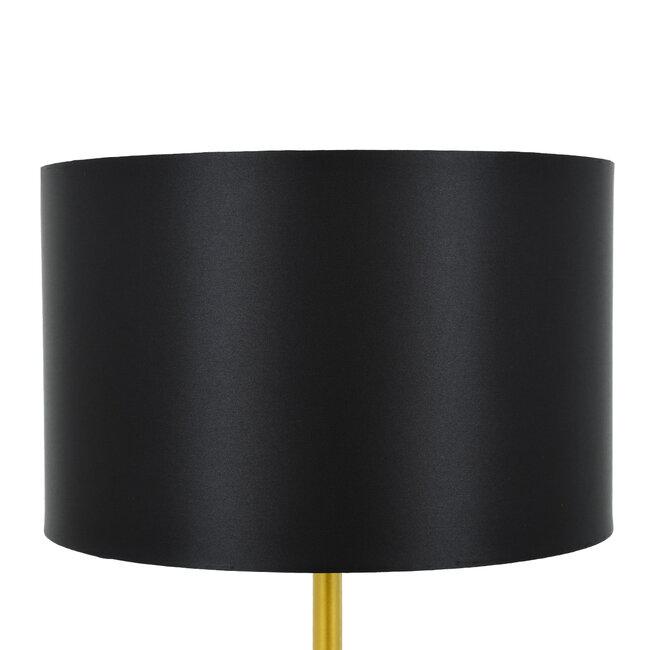 ASHLEY 00825 Μοντέρνο Φωτιστικό Δαπέδου Μονόφωτο Μεταλλικό Χρυσό με Μαύρο Καπέλο Φ40 x Υ148cm - 6