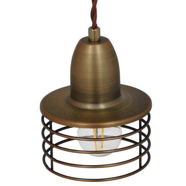 Μοντέρνο Industrial Κρεμαστό Φωτιστικό Οροφής Μονόφωτο Μεταλλικό Χρυσό Καμπάνα Φ11  MANHATTAN GOLD 01454 - 7
