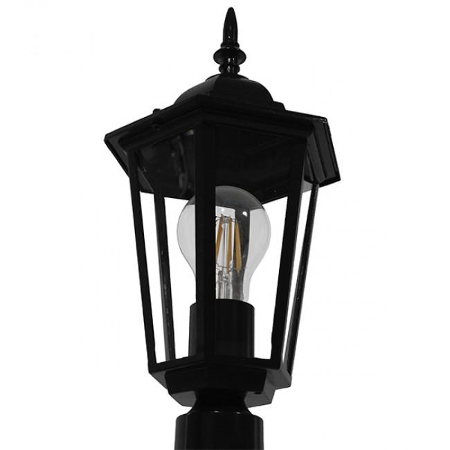 Vintage Industrial Φωτιστικό Δαπέδου Μονόφωτο Μαύρο Μεταλλικό Πλέγμα GloboStar ELLIPSE 01401 - 5