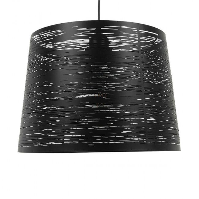 Μοντέρνο Industrial Κρεμαστό Φωτιστικό Οροφής Μονόφωτο Μεταλλικό Μαύρο Καμπάνα Φ35 GloboStar ATLANTIS 01556 - 3