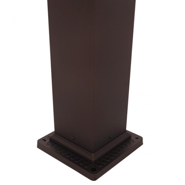 Vintage Industrial Φωτιστικό Δαπέδου Μονόφωτο Μπρονζέ Μεταλλικό Πλέγμα GloboStar SHELTER 01400 - 8