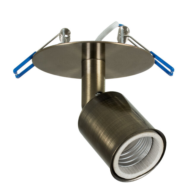 SARA 00853 Μοντέρνο Χωνευτό Φωτιστικό Οροφής / Τοίχου Μονόφωτο 1xE27 Μεταλλικό Μεταλλικό Μπρούτζινο Φ8 x Υ8.5cm - 2