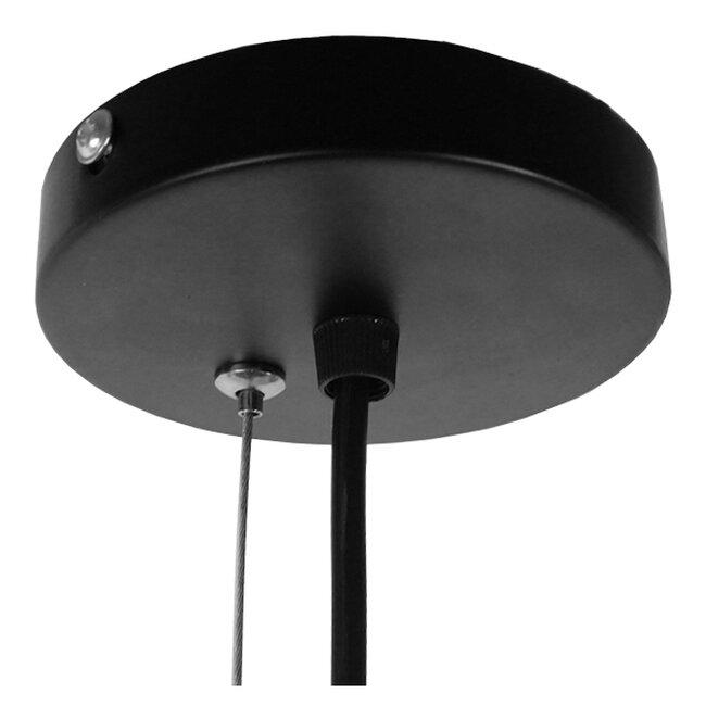 Vintage Industrial Kρεμαστό Φωτιστικό Οροφής Μονόφωτο Μαύρο Μεταλλικό Πλέγμα Φ32  GRID 01022 - 9