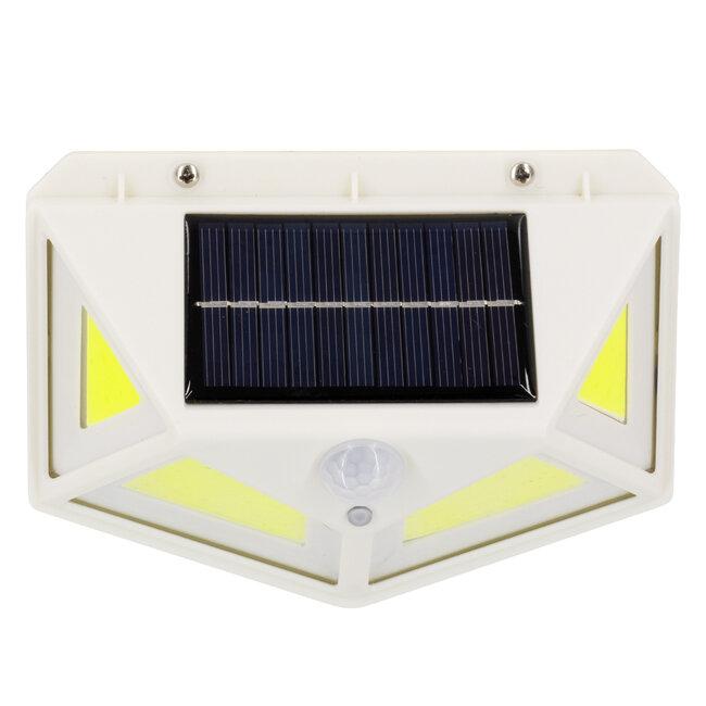 GloboStar® 71497 Αυτόνομο Ηλιακό Φωτιστικό LED COB 10W 1000lm με Ενσωματωμένη Μπαταρία 1200mAh - Φωτοβολταϊκό Πάνελ με Αισθητήρα Ημέρας-Νύχτας και PIR Αισθητήρα Κίνησης IP65 Ψυχρό Λευκό 6000K - 8