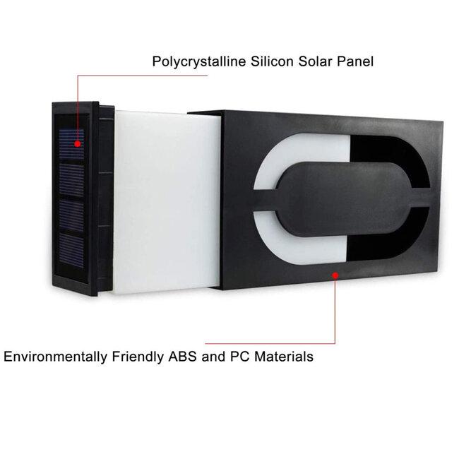 GloboStar® 71510 Αυτόνομο Ηλιακό Φωτιστικό LED SMD 1W 100 lm με Ενσωματωμένη Μπαταρία 1000mAh - Φωτοβολταϊκό Πάνελ με Αισθητήρα Ημέρας-Νύχτας για Αρίθμηση Δρόμου με Αριθμό 0 IP55 Ψυχρό Λευκό 6000k - 8