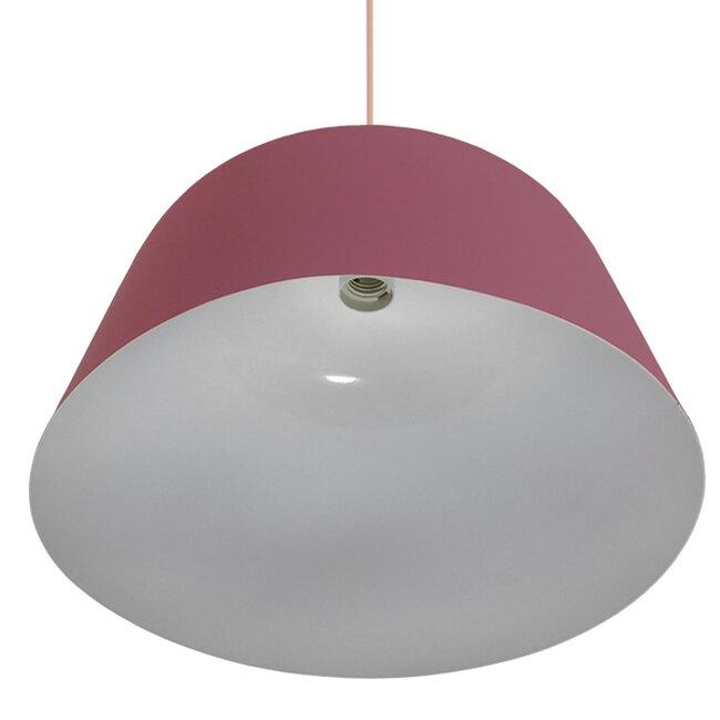 Μοντέρνο Κρεμαστό Φωτιστικό Οροφής Μονόφωτο Ροζ Μεταλλικό Καμπάνα Φ40  SOUTHVALE 01284 - 5
