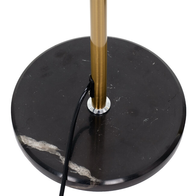 VERSA 00832 Μοντέρνο Φωτιστικό Δαπέδου Μονόφωτο Μεταλλικό Μπρονζέ Χρυσό με Μαύρη Μαρμάρινη Βάση Φ14.5 x Υ155cm - 6
