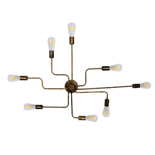 LIBERTA 00841 Μοντέρνο Φωτιστικό Οροφής Πολύφωτο Χάλκινο Σκουριά Μ102 x Π72 x Υ10.5cm - 5