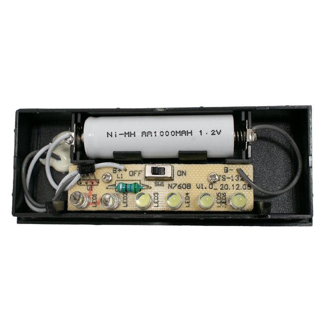 GloboStar® 71515 Αυτόνομο Ηλιακό Φωτιστικό LED SMD 1W 100 lm με Ενσωματωμένη Μπαταρία 1000mAh - Φωτοβολταϊκό Πάνελ με Αισθητήρα Ημέρας-Νύχτας για Αρίθμηση Δρόμου με Αριθμό 5 IP55 Ψυχρό Λευκό 6000k - 7