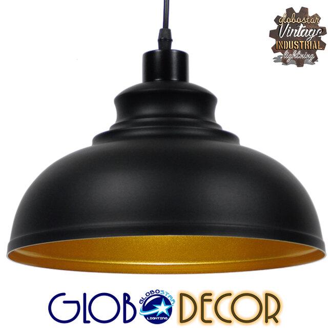 Μοντέρνο Κρεμαστό Φωτιστικό Οροφής Μονόφωτο Μαύρο Μεταλλικό Καμπάνα Φ35  ANDY 01000 - 1