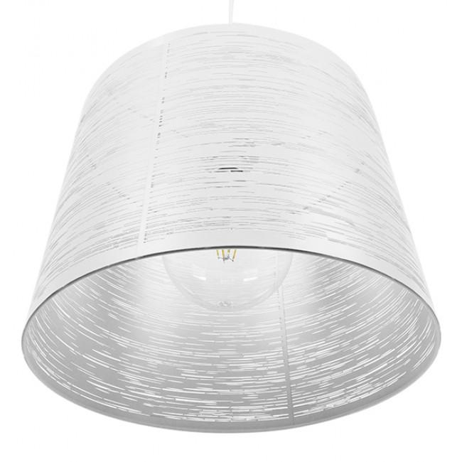 Μοντέρνο Industrial Κρεμαστό Φωτιστικό Οροφής Μονόφωτο Μεταλλικό Λευκό Καμπάνα Φ35  ACCADEMIA 01557 - 7