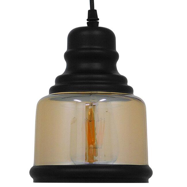 Vintage Κρεμαστό Φωτιστικό Οροφής Μονόφωτο Γυάλινο Μελί Διάφανο Φ15  WILLIAM 01506 - 5
