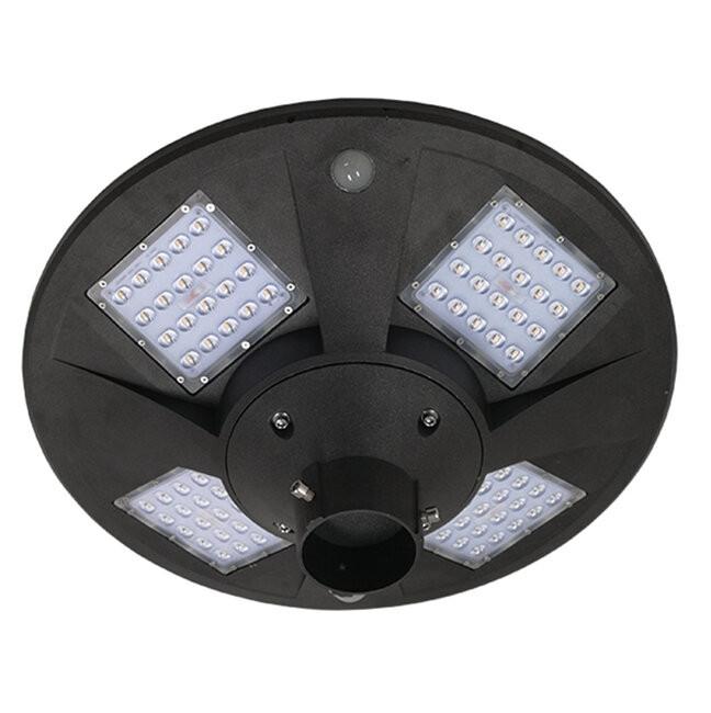 Αυτόνομο Αδιάβροχο IP65 Ηλιακό Φωτοβολταϊκό Φωτιστικό Στύλου / Κολώνας Πλατείας LED 25W με Ανιχνευτή Κίνησης, Αισθητήρα Νυχτός και Ασύρματο Χειριστήριο Θερμό Λευκό 3000k GloboStar 12118 - 2