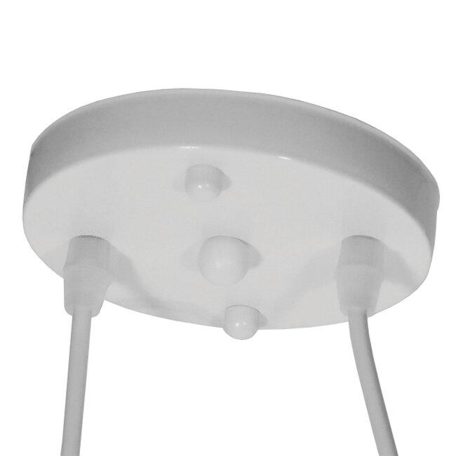 Vintage Κρεμαστό Φωτιστικό Οροφής Δίφωτο Λευκό Μεταλλικό  BIKE 01300 - 5