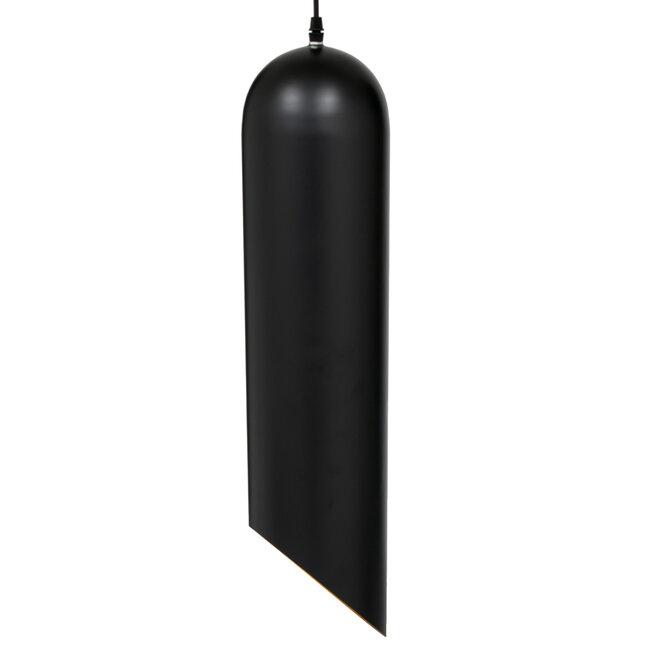 CARSON 01529 Μοντέρνο Κρεμαστό Φωτιστικό Οροφής Μονόφωτο Μαύρο - Χρυσό Μεταλλικό Καμπάνα Φ15 x 68cm - 6