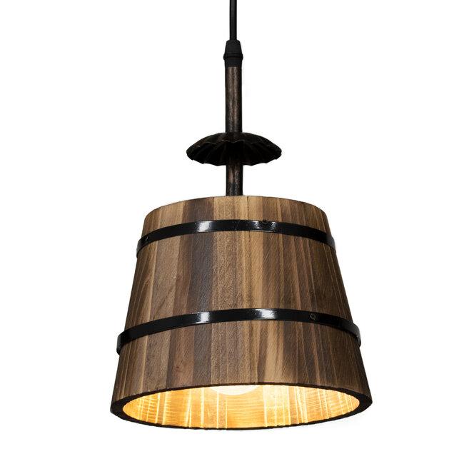 CEBU 00888 ΣΕΤ Vintage Κρεμαστό Φωτιστικό Οροφής Τρίφωτο Μεταλλικό Ξύλινο Φ40 x Y210cm - 6
