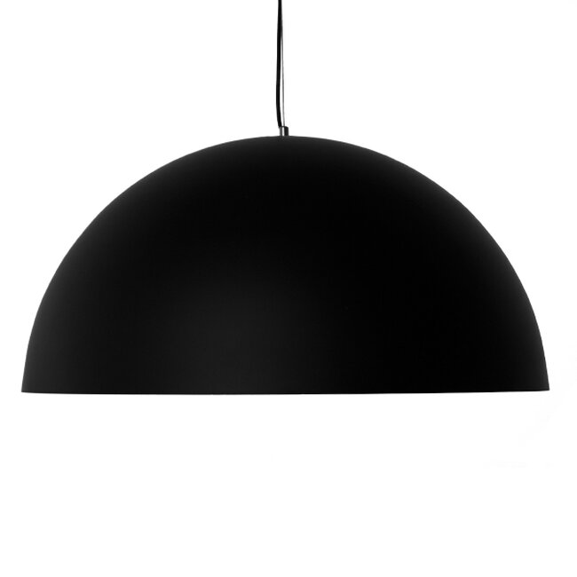 Μοντέρνο Κρεμαστό Φωτιστικό Οροφής Μονόφωτο Μαύρο Χρυσό Μεταλλικό Καμπάνα Φ60  DIADEMA 01342 - 3