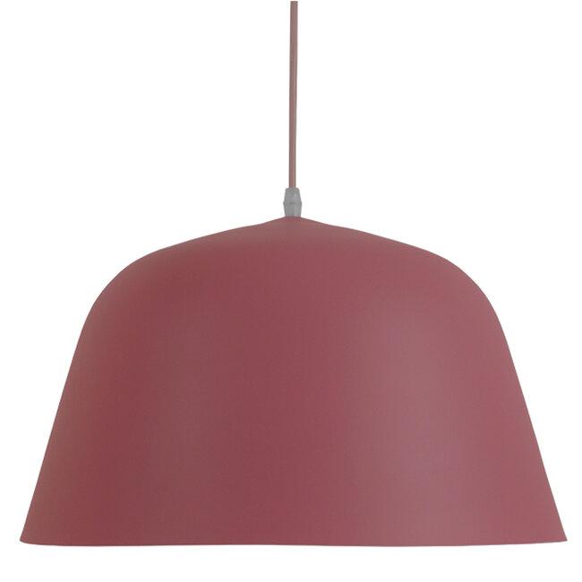 Μοντέρνο Κρεμαστό Φωτιστικό Οροφής Μονόφωτο Ροζ Μεταλλικό Καμπάνα Φ40  SOUTHVALE 01284 - 3