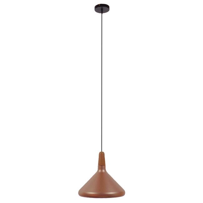 Μοντέρνο Κρεμαστό Φωτιστικό Οροφής Μονόφωτο Χάλκινο Μεταλλικό Καμπάνα Φ27  BARING 01224 - 2