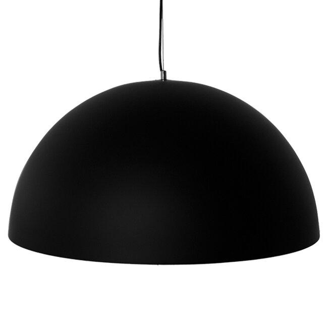 Μοντέρνο Κρεμαστό Φωτιστικό Οροφής Μονόφωτο Μαύρο Χρυσό Μεταλλικό Καμπάνα Φ60  DIADEMA 01342 - 4