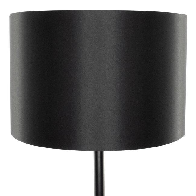 GloboStar® ASHLEY 00822 Μοντέρνο Φωτιστικό Δαπέδου Μονόφωτο Μεταλλικό Μαύρο με Καπέλο Φ35 x Υ145cm - 6