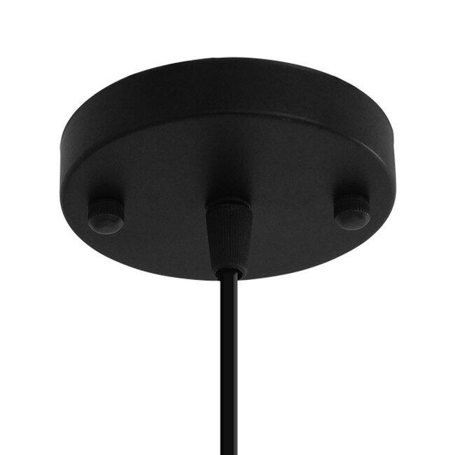 Μοντέρνο Industrial Κρεμαστό Φωτιστικό Οροφής Μονόφωτο Μαύρο με Εκρού Μεταλλικό Πλέγμα Φ28  CARTER Φ28 00960 - 7