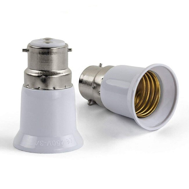 Πλαστικός Αντάπτορας από B22 σε E27 GloboStar 02227 - 4