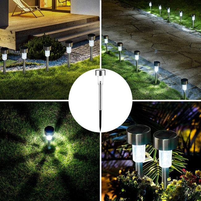 71520 Αυτόνομο Ηλιακό Φωτιστικό LED SMD 1W 100lm με Ενσωματωμένη Μπαταρία 600mAh - Φωτοβολταϊκό Πάνελ με Αισθητήρα Ημέρας-Νύχτας Αδιάβροχο IP65 Φανάρι Κήπου Στρογγυλό Ψυχρό Λευκό 6000K - 6