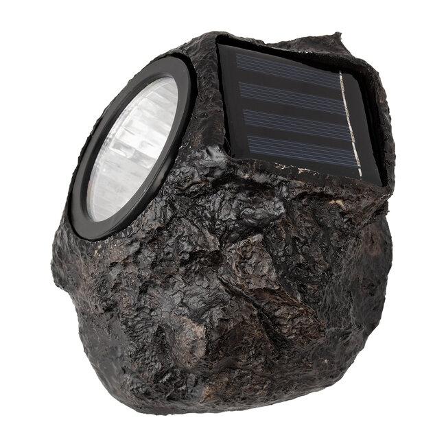 71484 Αυτόνομο Ηλιακό Φωτιστικό LED SMD 1W 100lm με Ενσωματωμένη Μπαταρία 600mAh - Φωτοβολταϊκό Πάνελ με Αισθητήρα Ημέρας-Νύχτας Αδιάβροχο IP65 Διακοσμητική Πέτρα - Βράχος Κήπου Ψυχρό Λευκό 6000K - 5