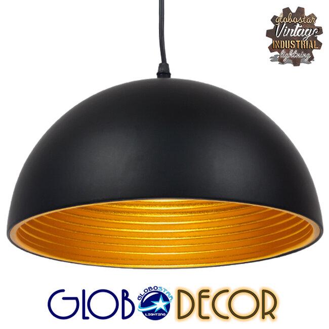 Μοντέρνο Κρεμαστό Φωτιστικό Οροφής Μονόφωτο Μαύρο Μεταλλικό Καμπάνα Φ30  CHIME BLACK 01004 - 1