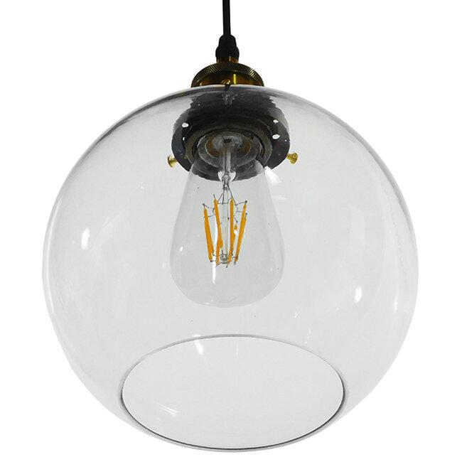 Vintage Κρεμαστό Φωτιστικό Οροφής Μονόφωτο Γυάλινο Καμπάνα Φ18  COLLINS 01170 - 6