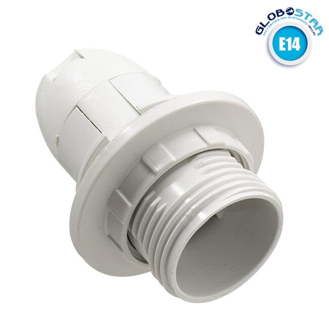 ΣΕΤ Ντουί E14 με Ροδέλα Πλαστικό Λευκό DIY GloboStar 78962 - 1