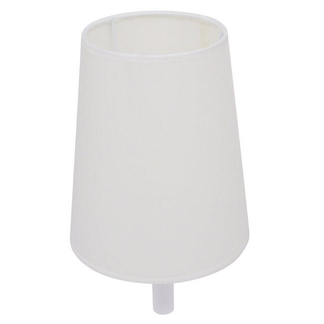 Μοντέρνο Φωτιστικό Τοίχου Απλίκα Μονόφωτο Λευκό με Μπέζ Ξύλο Μεταλλικό Φ20  LYDFORD WHITE 01433 - 13