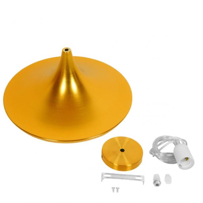 Μοντέρνο Κρεμαστό Φωτιστικό Οροφής Μονόφωτο Χρυσό Μεταλλικό Καμπάνα Φ37  JIAXING 01545 - 6