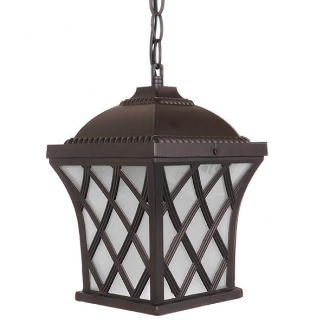 Vintage Industrial Κρεμαστό Φωτιστικό Οροφής Μονόφωτο Μπρονζέ Μεταλλικό Πλέγμα GloboStar LINCOLN 01399 - 5