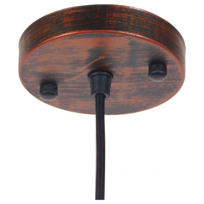Vintage Industrial Κρεμαστό Φωτιστικό Οροφής Μονόφωτο Καφέ Σκουριά Μεταλλικό Καμπάνα Φ36 GloboStar RAY IRON RUST 01046 - 9