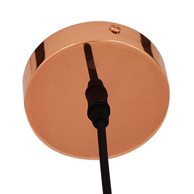 Μοντέρνο Κρεμαστό Φωτιστικό Οροφής Μονόφωτο Γυάλινο Χάλκινο Φ28  DIXXON COPPER 01461 - 6