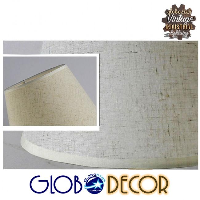 Μοντέρνο Επιτραπέζιο Φωτιστικό Πορτατίφ Μονόφωτο Ξύλινο με Λευκό Καπέλο Φ21 GloboStar NAPHIE 01208 - 10