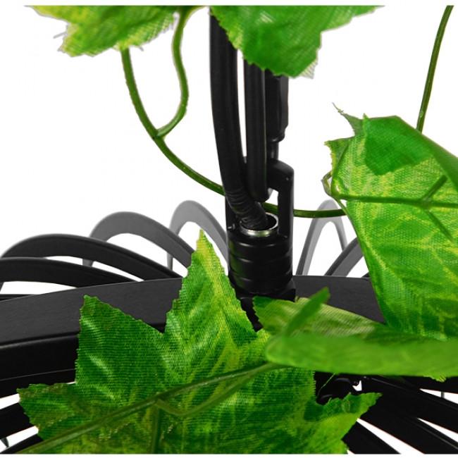 Vintage Industrial Κρεμαστό Φωτιστικό Οροφής Μονόφωτο Μαύρο Μεταλλικό Πλέγμα GloboStar MIZU 01640 - 6