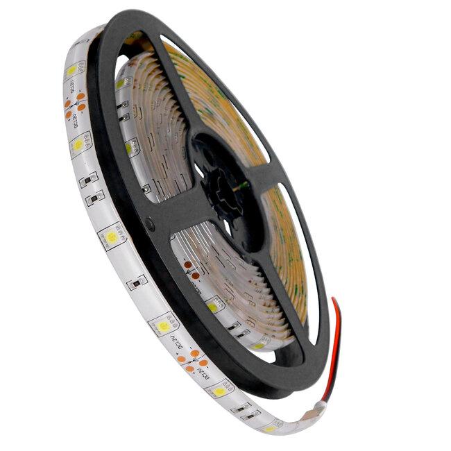 GloboStar® 70110 Ταινία LED SMD 5050 5m 7.2W/m 30LED/m 792 lm/m 120° DC 12V Αδιάβροχη IP65 Ψυχρό Λευκό 6000K - 5 Χρόνια Εγγύηση - 2