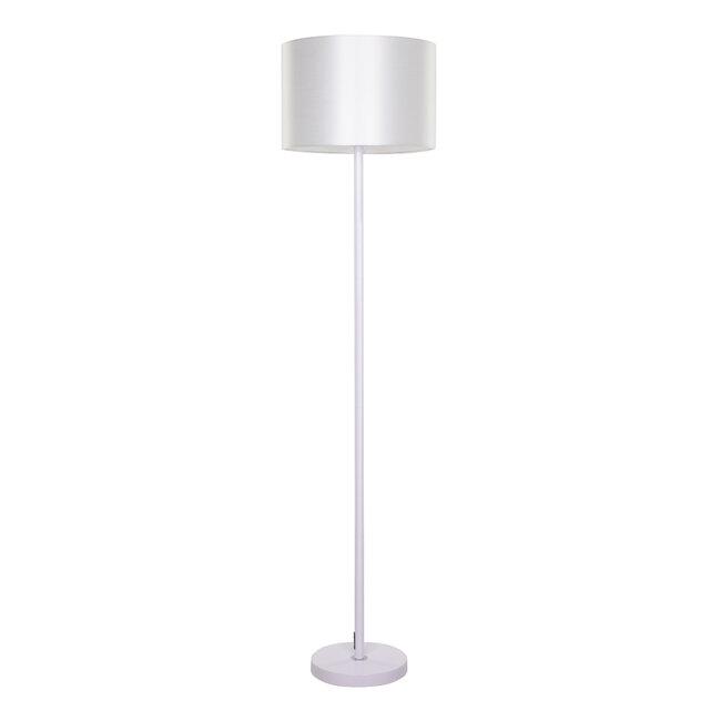 ASHLEY 00823 Μοντέρνο Φωτιστικό Δαπέδου Μονόφωτο Μεταλλικό Λευκό με Καπέλο Φ35 x Υ145cm - 2