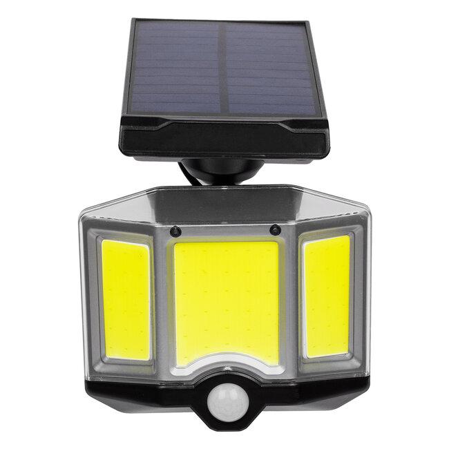 GloboStar® 71482 Αυτόνομος Ηλιακός Προβολέας LED COB 20W 1500lm με Ενσωματωμένη Μπαταρία 2400mAh - Φωτοβολταϊκό Πάνελ με Αισθητήρα Ημέρας-Νύχτας - PIR Αισθητήρα Κίνησης και Ασύρματο Χειριστήριο IR Αδιάβροχο IP65 Ψυχρό Λευκό 6000K - 5