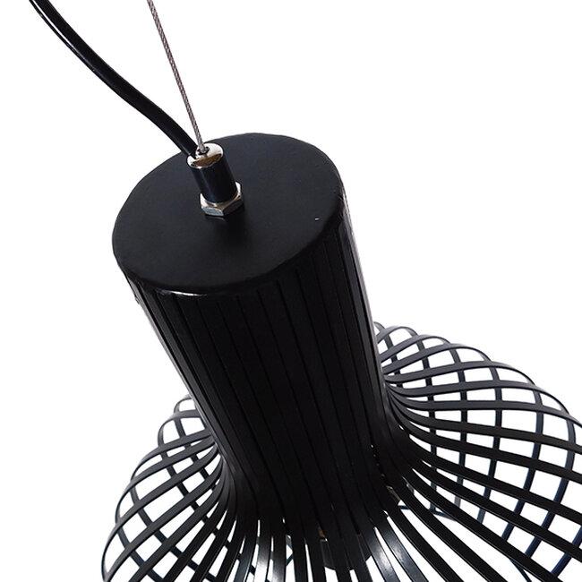 Μοντέρνο Κρεμαστό Φωτιστικό Οροφής Μονόφωτο Μαύρο Μεταλλικό Καμπάνα Φ38  GOBLET DARK 01266 - 7