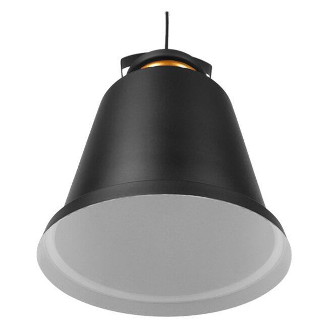 Vintage Industrial Κρεμαστό Φωτιστικό Οροφής Μονόφωτο Μαύρο Μεταλλικό Καμπάνα Φ27  NUNZIATA 01236 - 4